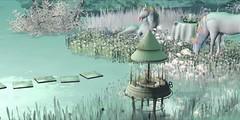 Unicorns (koro/carnell) Tags: unicorn secondlife winterland oldtown adagiobreeze