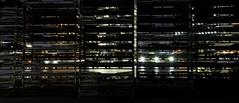 Folded baskets (nishitoshi) Tags: d850 nikon japan tokyo street night building black light shadow