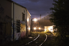 Crawling Through the Alley (The Industrial Railfan) Tags: elchlok theindustrialrailfan henrydell railway train industrialswitching industry industrial spur switching