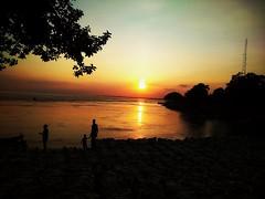 Sunset at padma reaver. (ahsan al imran) Tags: rajshahi sunset bangladesh reaver sun golden nature naturewatcher abstract red bank trees yellow tower tourism mobile photography symphony zviii night