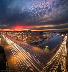 Rivers (roofsoldier) Tags: evening exposure petersburg exterior russia roof road rooftop river architecture urban city cityscape motion cloudy clouds sunset illumination historic night saintpetersburg postcard longexpo long landscape above avenue facade sky