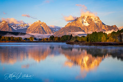 Reflections At Dawn (Mimi Ditchie) Tags: grandtetonnationalpark grandtetons dawn sunrise reflections snakeriver getty gettyimages mimiditchie mimiditchiephotography clouds nationalpark water mountains landscape oxbowbend