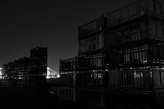 Baskets (nishitoshi) Tags: d850 nikon japan tokyo mono monochrom street night building black white sky light shadow