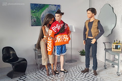 the cool guy gets the girl (photos4dreams) Tags: barbie mattel doll toy photos4dreams p4d photos4dreamz barbies girl play fashion fashionistas outfit kleider mode puppenstube tabletopphotography diorama scenes 16 canoneos5dmark3 ken bmr1959 madetomove male man mann deboxed kay