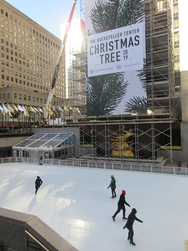 2019 Christmas Tree Rockefeller Center with scaffolding 9639