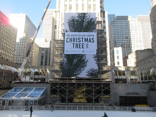 2019 Christmas Tree Rockefeller Center with scaffolding 9636