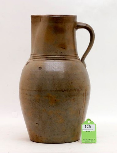 Important 1850's Parkersburg, VA Stoneware Pitcher ($1,792.00)