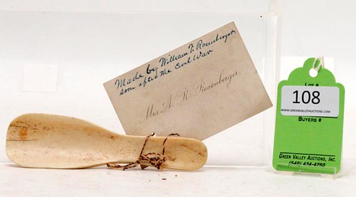Bone Spoon Made From Col. Ashby's Horse ($980.00)