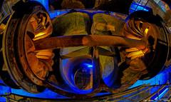 Maw - hungry for water (Only Snatches) Tags: art augsburg bavaria bayern deutschland energie germany kunst langweid nostalgie rokinon samyang75mm135fisheye schwaben skuril swabia technik unescowelterbe walimex wasserkraftwerk worldheritagesite bedrohlich bizarre energy gigantic gigantisch hydroelectricpowerstation nostalgia threatening