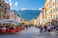 "Innsbruck, Austria (mandyhedley) Tags: aus austria innsbruck town church cathedral city landscape mountains clouds cloudjunkie monument sightseeing ""flickrtravelaward"""