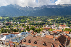 Innsbruck, Austria (mandyhedley) Tags: innsbruck austria holidays travel town monument church cathedral mountains clouds scenery outdooreating bikes bicycles
