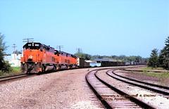 (SEE & HEAR)---BLE 902s, Grove City, PA. 6-30-2002 (jackdk) Tags: train railroad railway locomotive emd emdsd40 emdsd402 emdsd40t2 sd40 sd402 sd403 sd40t2 tunnelmotor sp southernpacific ble bessemer bessemerandlakeerie ironore ore oretrain seeandhear seehear fallenflag cn canadiannational grovecity grovecitypa ble902 902