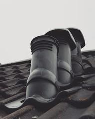 Trinity among chimneys.. (erlingraahede) Tags: bedifferent canon melancholic vsco autumn schleswig germany monochrome chimney trinity