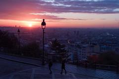 sunrise of paris (N.sino) Tags: leica m9 voigtlander ultron35mmf17 paris sunrise montmartre morning パリ 日の出 モンマルトル 街灯