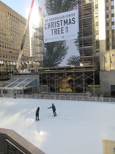 2019 Christmas Tree Rockefeller Center with scaffolding 9640