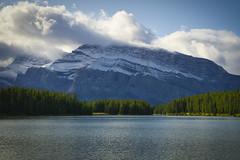 Two Jack Lake, Mount Rundle (Bernie Emmons) Tags: snow clouds mountains lake trees mountrundle twojacklake banffnationalpark
