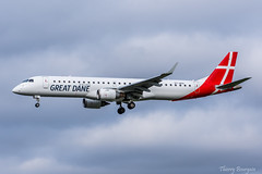 [ORY] Great Dane Airlines Embraer ERJ-195 _ OY-GDA (thibou1) Tags: thierrybourgain ory lfpo spotting aircraft airplane nikon d810 tamron sigma greatdaneairlines embraer195 erj195 oygda landing gothenburg embraer