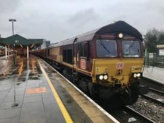 "66075 Cardiff. 14th November 2019 (Flikrman Gaz) Tags: ews freight railway train ""class66"""