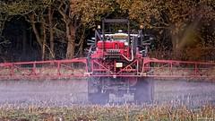 Crop Spraying. Nov 2019 (Simon W. Photography) Tags: farming farm cropspraying tractor soil dust land landscape crop farmersweekly organicfarming nationalfarmersunion nfu britishfarming countryside farmer