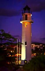 Enlighten me...!!! (Nita_Fotos) Tags: sundown clouds blue orange atardecer nubes naranja cielo mountain montañas reflection reflejos trees arboles agua backligh contraluz lecheria venezuela mar caribe •agua lighthouse faro tuniñasalvajedelaselva