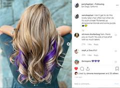 New haircut and color (Sunny Day Photography) Tags: tigereyehair purplehair haircut