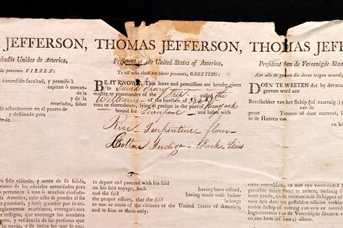 1806 Jefferson & Madison Historic Signed Document ($3,136.00)