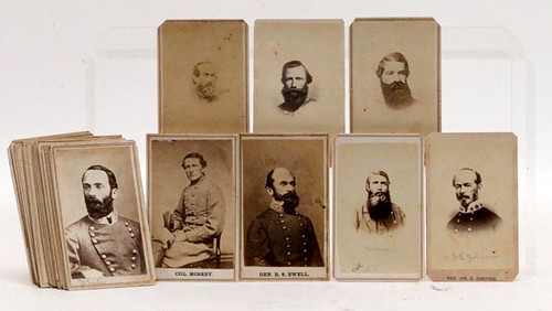 32 Confederate Military Officers CDVs ($4,144.00)