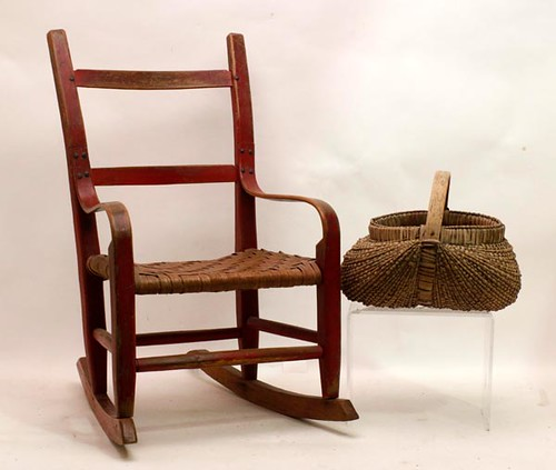Red painted child's rocker ($179.20)