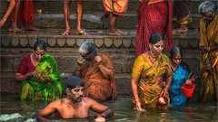 Morning Rituals at the Ganges River #9 (felixvancakenberghe) Tags: asia asian hinduism india people varanasi women