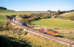 Houndwood intermodal (Rails West) Tags: class66 container dbs66 ecml houndwood intermodal locations scotland 66137