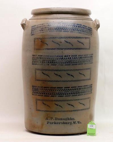20 Gallon A.P. Donaghho Stoneware Storage Jar ($1,120.00)