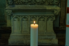 Candle (Croydon Clicker) Tags: cathedral church sarcophagus salisbury wiltshire nikon nikkor nikon28300mm candle flame