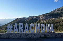 Arachova (kylewagaman) Tags: arachova greece greek town hillside hashtag social socialmedia