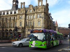 Leeds (Andrew Stopford) Tags: yn56nvb scania cn94ub omnicity connexionsbuses leeds the64 first ipswichbuses harrogatecoachtravel