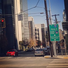 Pedestrian leading interval and no turn on red sign installed at Republican exit ramp at Dexter (Seattle Department of Transportation) Tags: donghochang seattle sdot transportation pedestrian leading interval no turn red sign installed republican exit ramp dexter wayfinding signs crosswalk instagram