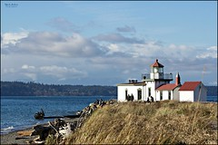 West Point Lighthouse (v. 4) (MEA Images) Tags: lighthouses architecture washington pugetsound water waterscene waterscape landscape canon picmonkey