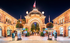 _DSC1783 - Tivoli Gardens main entrance (AlexDROP) Tags: 2019 denmark copenhagen europe travel architecture color cityscape city longexposure nikond750 tamronaf1735mmf284diosda037 best iconic famous mustsee picturesque postcard night hdr