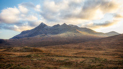 The Cuillin... (L.H.IMAGES) Tags: landscape landscapephotographymagazine landscapes isleofskye rugged outdoor sky skye clouds colourful scotland uk contrast nikon nature mountain mountainrange mountains
