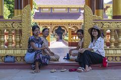 DSC_2544 (Daveoffshore) Tags: david ferguson daveoffshore daveoffshorenetscapenet myanmar people person burmese ladies four smile happy relaxed family temple hat