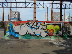 fatality/ finish him (en-ri) Tags: esc ninja rosso grigio nero blu parco dora torino wall muro graffiti writing