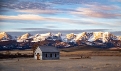 Old Sedan Church (Kim Tashjian) Tags: bridgermountains sedan montana church sky clouds