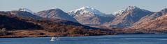 200_712-Pano (Baffledmostly) Tags: lochkatrine autumncolours lightingandweather snow steamship