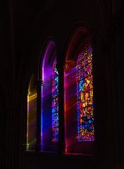 Stained Glass Colors (edwarddwood) Tags: nationalcathedral church washington dc christianity stainedglass window color light shadow architecture building sony a7r3 panorama