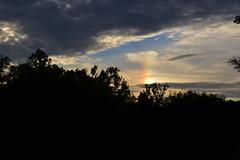 Rainbow Blur (JayRose05) Tags: sky rainbow spot clouds cloudy sunset outdoor outdoors nikon natural naturallight silhouette trees