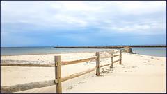 Beach meets Jetty (Timothy Valentine) Tags: beach 1119 large sky camera2 friday jetty 2019 fence dennis massachusetts unitedstatesofamerica