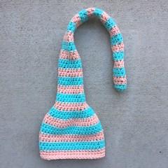 IMG_2381 (crochetbug13) Tags: crochet crocheted crocheting crochethat crochetbeanie crochetcap wintercrochetcrochetrainbowhat wearablecrochet crochetvikinghat crochetswatch