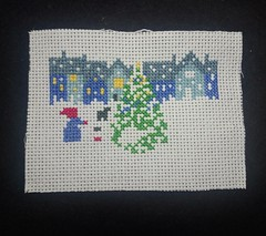 Progress 14/11/2019 (InnerTigger) Tags: crossstitch christmas card