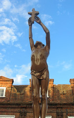 The People of Dover War Memorial, Dover, Kent (alexdavidwriter) Tags: dover kent england britain uk worldwari worldwarii memorial warmemorial soldiers statue sculpture christianity cross boy reginaldgoulden publicart commemoration remembrance