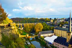 Luxemburg (ad.Peppi) Tags: luxemburg film autumn november weekend nikon photography corniche alzette bridge church river