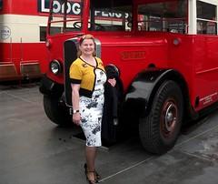 Denise 40's style with London transport STL2377 at Brooklands May 2017. (Ledlon89) Tags: bus buses transport london betal tinplate britishtoys oldtoys londonbus londonbuses londontransport antiquetoys aec qtypebus q aecbus lptb lt lte